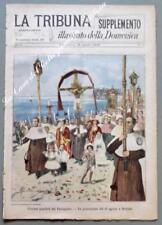 Lazio. NETTUNO, Roma. Processione del 15 Agosto. La Tribuna. Supplemento...