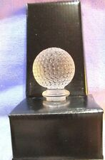 "Golf Ball Bottle Stopper 24% Full Lead Crystal Clear 4.5"" Gleneagles Scotland"