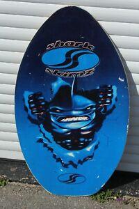 Retro Shark Skimz Wooden Skimboard Surf Board Water Sports Beach