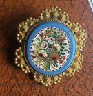 1820-1840. Georgian / Victorian  micro mosaic clasp mounted as a brooch. A/F