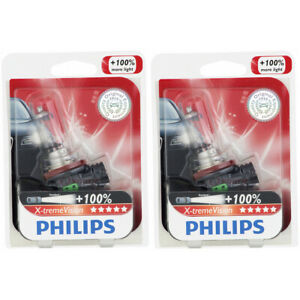 2 pc Philips Front Fog Light Bulbs for Jeep Compass Grand Cherokee Renegade pb