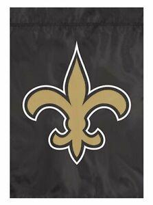 New Orleans Saints GARDEN Window Flag Banner Applique Embroidered Football