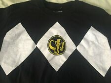 Mighty Morphin Power Rangers black T-shirt size small
