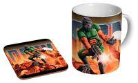 Doom Ceramic Tea - Coffee Mug Coaster Gift Set