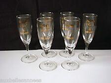 ANCIEN FLUTE LEJAY LAGOUTE x 6 / VERRE COUPE VIN CHAMPAGNE MOUSSEUX OLD GLASS