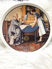 """Norman Rockwell Mothers Day Collector Plate """" Add 2 Cups...."""" 1983"""
