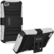 AMER RUED HYBRID HARD RUBBER SOFT CASE WITH KICKSTAND FOR APPLE iPhone 4 4s