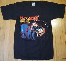 NOS vintage 2000 GIANT ROBO shirt M anime mecha manga black OVA otaku Gundam