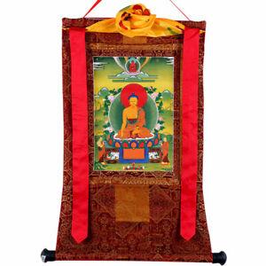 60cm High Quality Tibetan Buddhism Shakyamuni Buddha Thangka Print Scroll 释迦摩尼