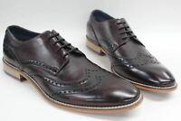 GOODWIN SMITH Men's Dark Brown Brogue Double Wing Formal Shoes UK8 EU41 NEW