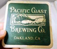 Pacific Coast Brewing Co Oakland CA Bar Coaster Beer lot 3 Free Shipping USA