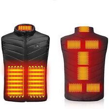 Electric Heated Vest Jacket Waistcoat USB Warm Up Heating Body Warmer Unisex