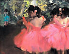 Dancers In Pink Edgar Degas Ballerina Print CANVAS Painting Repro HQ Giclee 8x11