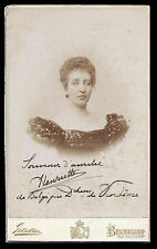 Princess Henriette Belgium Duchess Vendome Signed Cabinet Photo Gunther Brussels