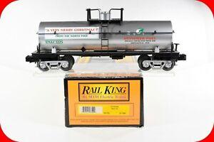 O Scale Merry Christmas Reindeer Fuel Tank Car XMAS 1225 - MTH Rail King 30-7396