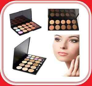 Face Cream Contour Makeup Concealer Camouflage Foundation Palette Brush Set