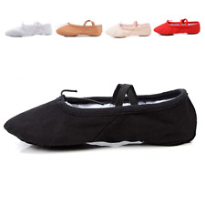 Toddler & Kids Nexete  Ballet Dance Yoga Gymnastics Canvas Leather Slipper Shoes