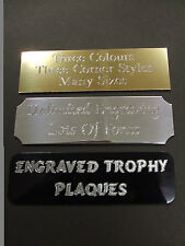 ENGRAVED SELF ADHESIVE TROPHY PLAQUE PLAQUES  PLATE AWARD PICTURE FILM CELLS