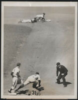 1949 Orig DODGERS Press Photo - Double Play In Brooklyn
