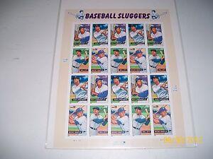 Scott #4080-4083 Baseball Sluggers Sheet of 20 Stamps 39 Cent Mint