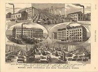 1883 Estampado ~ John Brinsmead & Sons Piano Obras Londres Acabado Tienda