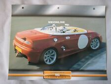MG F Super Sports Dream Cars Card