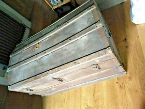 Vintage sea chest - 3' long - domed top