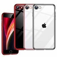 For iPhone SE 2nd 2020 Case Crystal Clear Shockproof Bumper Soft Silicone Cover