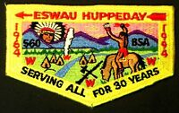 OLD ESWAU HUPPEDAY OA 560 PIEDMONT COUNCIL NC PATCH 1994 30TH ANNIVERSARY FLAP