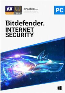 BITDEFENDER INTERNET SECURITY 2021 3 PC FOR 1 YEAR WITH 200MB VPN DOWNLOAD EU UK