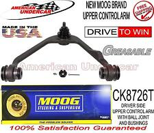 MOOG CK8726T K8726T LEFT DRIVERS SIDE UPPER CONTROL ARM BALL JOINT AND BUSHINGS