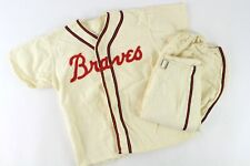 1953-65 Milwaukee Braves Youth Flannel Baseball Uniform with Jersey and Pants