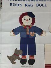 "New listing Vintage Rag Doll Rusty Raggedy Andy Cotton Panel Fabric 58"" Panel Vip Cranston"