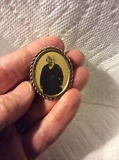 ANTIQUE FRENCH PHOTO PHOTOGRAPH JEWELRY PIN BROOCH