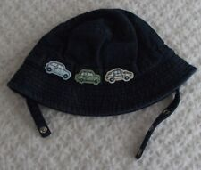 The Children's Place 6-12 months Boy Bucket Sun Hat EUC Cars TCP chin strap jean