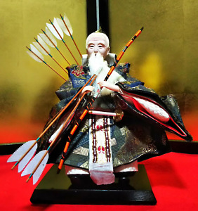 Japanese Samurai Warrior Musha immortals with Sword Bow & Arrow Figure MINT