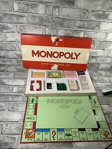 Vintage Waddingtons Monopoly Original Classic 1961 Edition Board Game - Complete