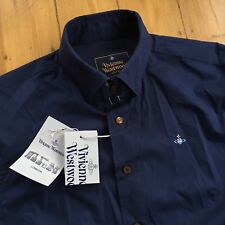 Vivienne Westwood Krall Long Sleeve Shirt-Medium-Navy Blue-Brand New With Tags