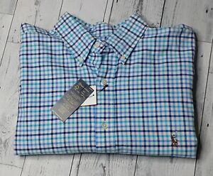 NWR Ralph Lauren Check Plaid Men's XLT Long Sleeve Oxford Shirt Classic Fit $110