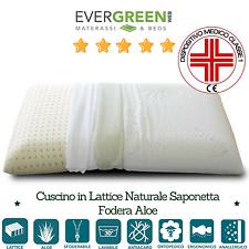 Cuscino Guanciale Saponetta in Lattice 100% Made in Italy h12 Federa in AloeVera