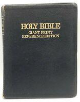Vintage Holy Bible KJV Giant Print Ref Red Letter Concordance Zondervan 1977 VTG