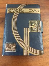 Vintage 1940's Five year Diary With Lock & Key Made in Japan Rare