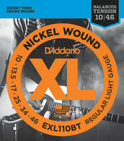 D'Addario EXL110BT 10-46 Balanced Tension Light Electric Guitar Strings