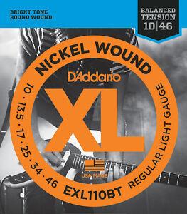 D'Addario EXL110BT 10-46 Balanced Tension Light Electric Guitar Strings