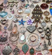 Huge 120 PC Mixed Pendant Charm Lot Crystal Rhinestones MOP Art Glass Lucite