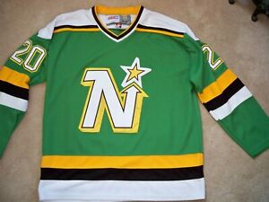 Dino Ciccarelli Minnesota North Stars NHL Hockey CCM Jersey  Mens size 52