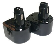 2X 12V NI-CD PS130 Battery for Black & Decker, Firestorm 12 Volt Cordless Drill