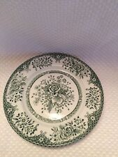 "Wood & Sons Fine  Dinnerware~ GREEN ""ROSE"" ~ Saucer/Plate~Made in England"