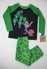 NEW Boys Pajamas Set Size XS 4 - 5 Minecraft Sleep Shirt Fleece Pants PJs Zombie