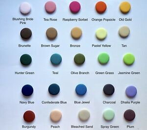 """Solid 25 Colors Fabric Covered Buttons Small/medium/large Buttons 11/16 - 1.5"""""""